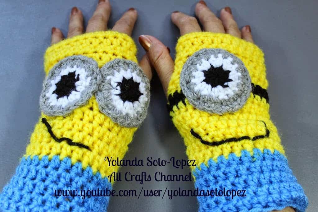 Minion  gloves Pattern