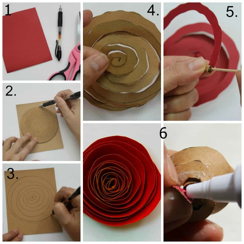 how to make a rose out of paper easy