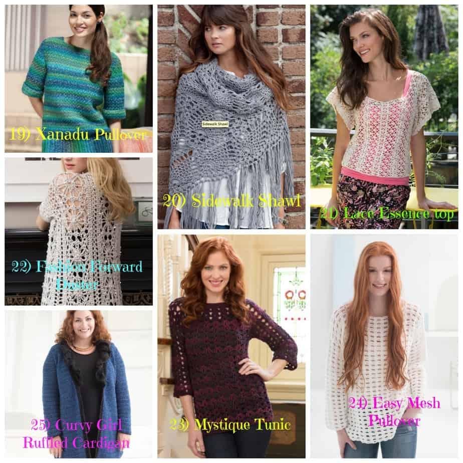 25 Plus Size Free Crochet Garment Pattern - Round Up - All ...