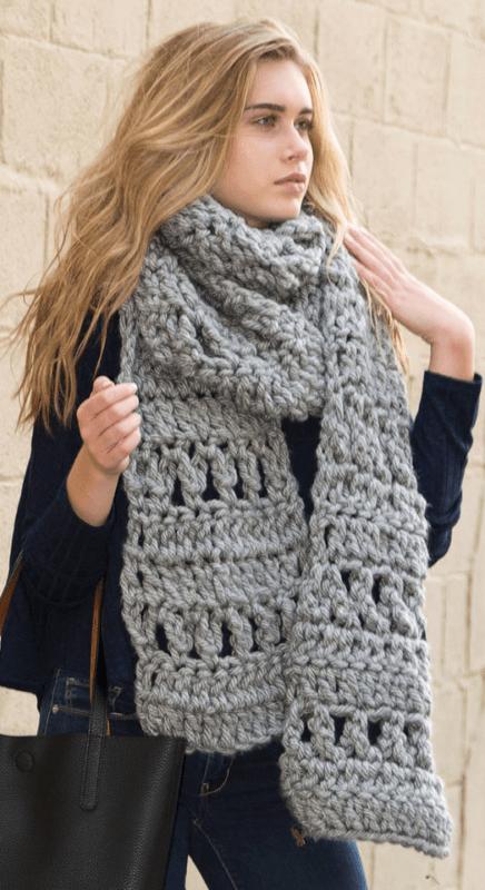 Crochet Patterns Using Chunky Yarn : Crochet Super Scarf using Chunky Yarn - All Crafts Channel