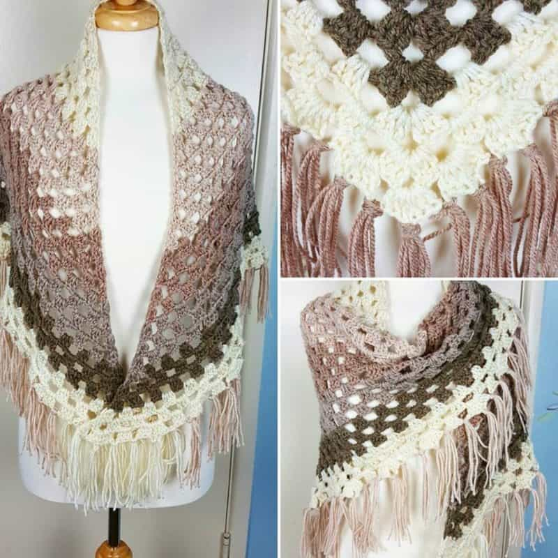 Free Crochet Patterns Using Caron Yarn : Ombre Shawl using Caron Cakes by Yarnspirations - All ...