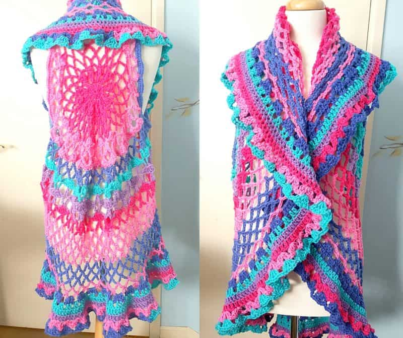 Crochet Boho Vest Perfect For Spring And In A Plus Size Too All