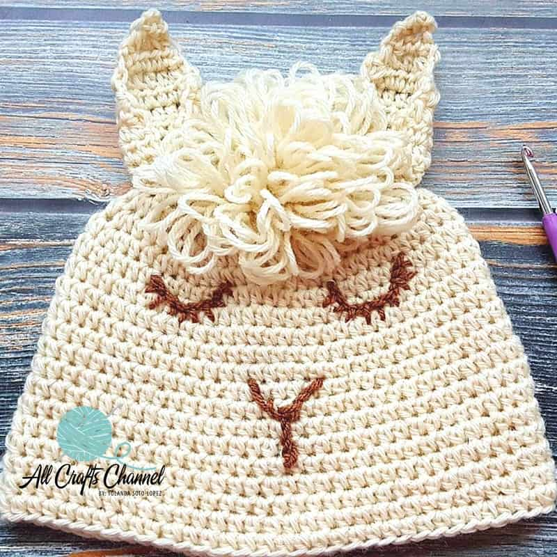 An Easy To Crochet Llama Hat All Crafts Channel