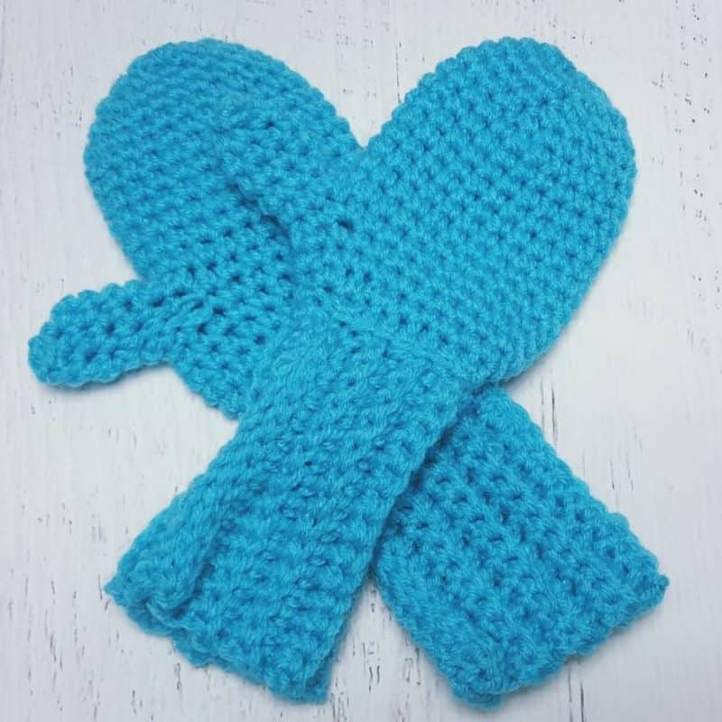 Easy Crochet Mittens Fast And Easy All Crafts Channel